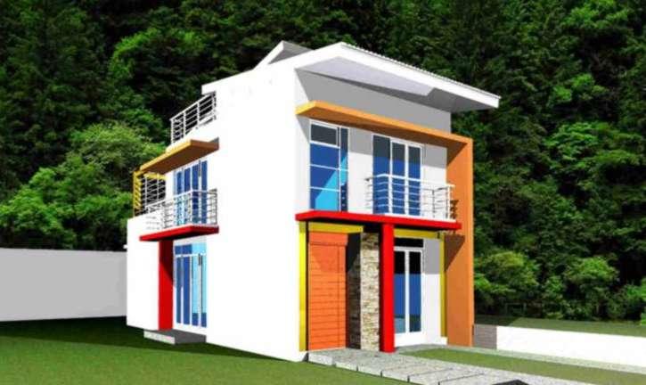 Contoh Denah Rumah Kantor  desain rumah lebar 5 meter rumah minimalis 5 meter denah rumah