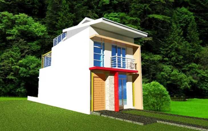 Desain Rumah Minimalis Lebar 4 Meter  desain rumah lebar 5 meter rumah minimalis 5 meter denah rumah